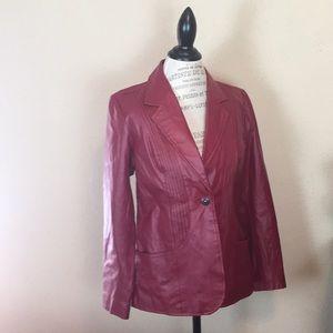 Denim & Co. Like New Genuine Leather Lined Jacket